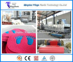 Plastic PVC Carpet Manufacturing Machine / PVC Coil Carpet Roll Producing Plant pictures & photos