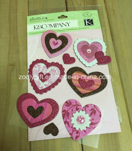 Customize 3D Dimensional Scrapbook Handmade Paper Craft Glitter Stickers pictures & photos