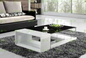 (SJ-110) Black MDF Wooden Coffee Table pictures & photos