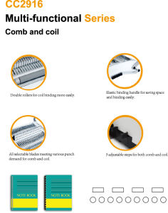 A4 Size Comb and Coil 4: 1 2-in-1 Binding Machine (CC2916) pictures & photos
