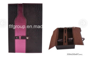 Top Grade Wine Packaging Box PU Leather Wine Box pictures & photos