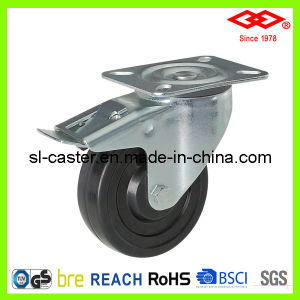 Swivel Plate with Brake Industrial Caster (P106-53B075X32S) pictures & photos