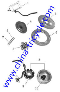 Spare Parts of Motor Assy of Tricycle Engine (SP-SP-19) pictures & photos