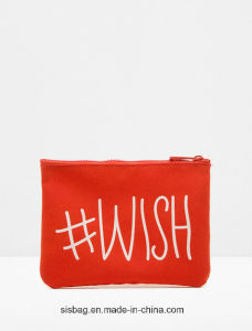 Promotion English Letter Printing PU Purese Clutch Bag pictures & photos