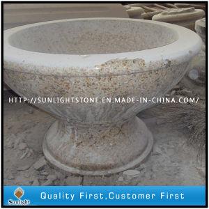 Polished G682 Granite Carved Flower Pot / Planter Pot / Garden Pot pictures & photos