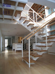 Modern Design of Stairs DIY Steel Stairs Space Saver Stairs Pr-L1059 pictures & photos
