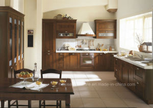 Dark Solid Wood American Shaler Style Kitchen Cabinets/ Kitchen Cupboards pictures & photos