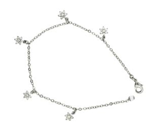 Sterling Silver Jewelry Kids′ Bracelet or Anklet Flower Shape pictures & photos