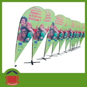 Outdoor Display Product Teardrop Flag with Printing pictures & photos