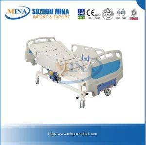 Adjustable Hospital Beds Medical Equipment Furniture ABS Double-Crank Manual Bed (MINA-MB105)