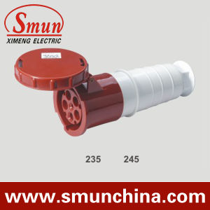 Industrial Connector, 63A 125A IP67 5pin Waterproof PA66 Mobile Socket CE RoHS pictures & photos