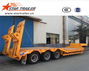 3 Axles Low Deck Semi-Trailer pictures & photos