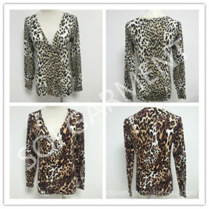 New Ladies Sexy Leopard Jacquard Knitted Clothes/Sweater (SOITSW-18)