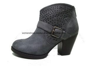 Sexy Lady Fashion Chunky High Heel Ankle Boots for Winter pictures & photos