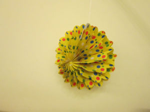 Printed Paper Ball, Honeycomb Decoration