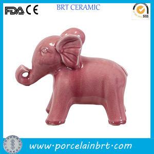 Cute Pink Ceramic Elephant Figurine Indoor Decoration pictures & photos