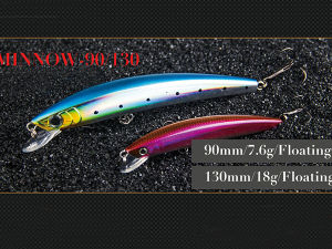 Hard Bait (Edge Minnow 90/130mm Floating) pictures & photos