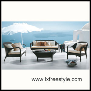 UV Resistand Outdoor Sofa Set / SGS Wicker Furniture (SF-015)
