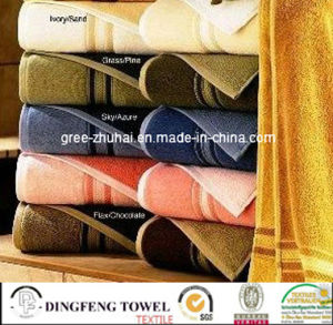 100% Cotton Strip Bath Towel pictures & photos