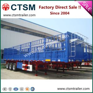 Hot Sale Tri-Axle Stake/Fence Semi Truck Trailer pictures & photos