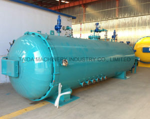 Siemenz PLC Rubber Vulcanizing Vulcanization Vulcanizer Hot High Pressure Steam Electric Autoclave pictures & photos