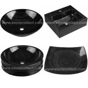 Black Serpegiante / Imperial Black Marble Basin / Sinks pictures & photos