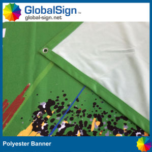 Premium Polyester Fabric Flag Banners Sign pictures & photos