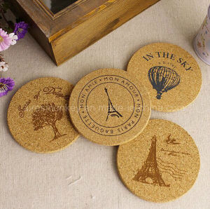 Favoured Natural Wood Blank Cork Coaster pictures & photos