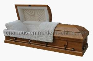 Us Style Solid Oak Wood Casket (5050005) pictures & photos