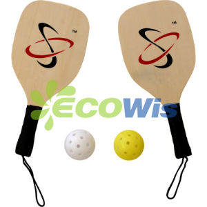 Wood and Carbon Pickleball Paddle Racket (HTS5022) pictures & photos