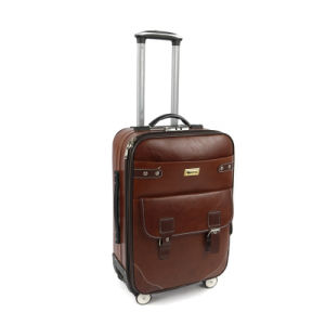 PU Wheeled Trolley Luggage Travelling Suitcase Case Bag pictures & photos
