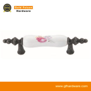 Zinc Alloy Ceramic Furniture Handle/ Classical Furniture Hardware/ Cabinet Handle (C218 DI-F) pictures & photos
