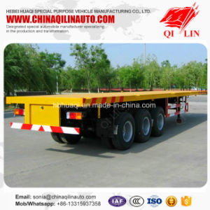 3 Axles 40FT Container Flatbed Semi Trailer for Philippines pictures & photos