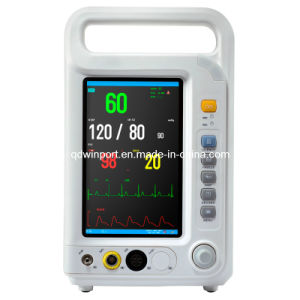 CE Marked 7 Inch TFT Display Multi-Parameter Equipment Medical Patient Monitor pictures & photos