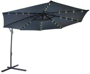 Banana Hanging Umbrella with LED Light Solar Umbrella pictures & photos