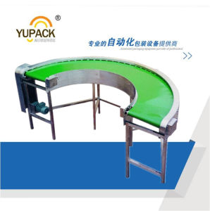 Smooth Operation Rubber Curved Belt Conveyor Used in Factory pictures & photos