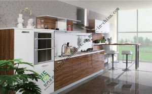 Wooden Melamine Kitchen Cabinets Made in China (ZS-153) pictures & photos