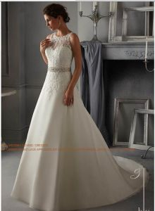 2015 Aline Crystal Beaded Bridal Wedding Dresses (WD5271) pictures & photos