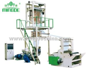 LDPE Film Extruder with Rotary Die Head and Double Rewinder pictures & photos