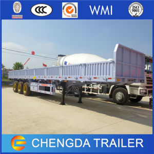 3 Axle 60 Ton Drop Side Cargo Semi Trailers for Sale pictures & photos
