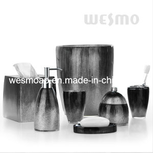 China black polyresin bathroom sets wbp0346a china for Bathroom accessories hs code