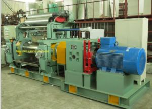 Two Roll Open Rubber Mixing Mill with Stock Blender