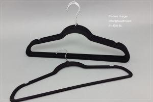 Cheap Flocked Hanger, Velvet Hanger for Clothes, Wholesale Plastic Hanger pictures & photos