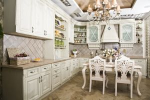 White American Style Solid Wood Kitchen Furniture