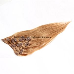Clip in Hair Extensions in Brazilian Stright Human Hair Clip in Extensions pictures & photos