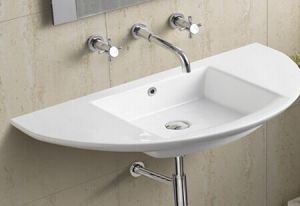 Ceramic Wall Hung Bathroom Basin (658) pictures & photos