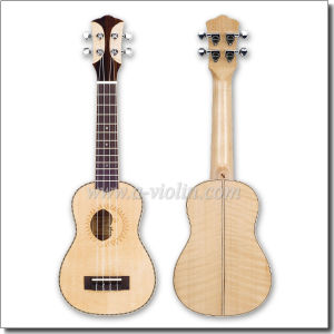 21 Inch Solid Wood Engraving Soprano Ukulele (AU901-21) pictures & photos