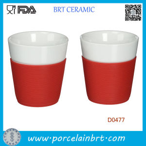 White Wholesale Ceramic Mug with Silicone Sleeve pictures & photos
