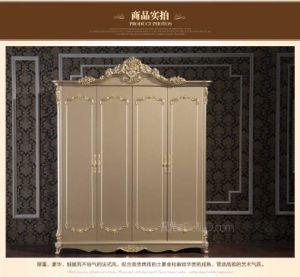 Ritz Bedroom Furniture Hot Selling High PVC Plaid Wardrobe Furniture/ Wardrobe pictures & photos