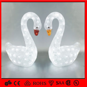 Christmas Decoration LED Motif Light Acrylic Double Goose pictures & photos